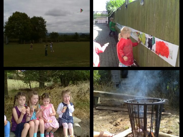 Holiday Club fun, flying kites and toasting marshmallows